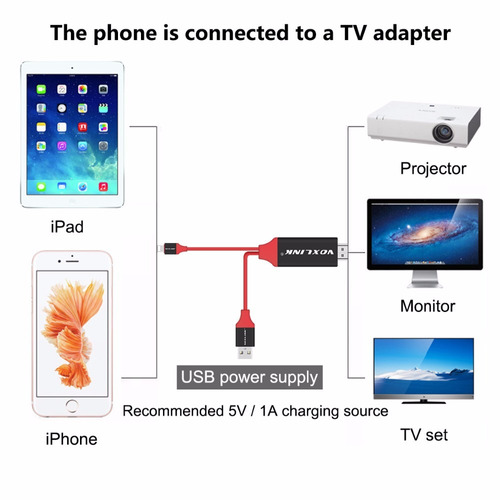 cable hdmi lightning iphone 6 iphone 7 ipad a tv 2 mts