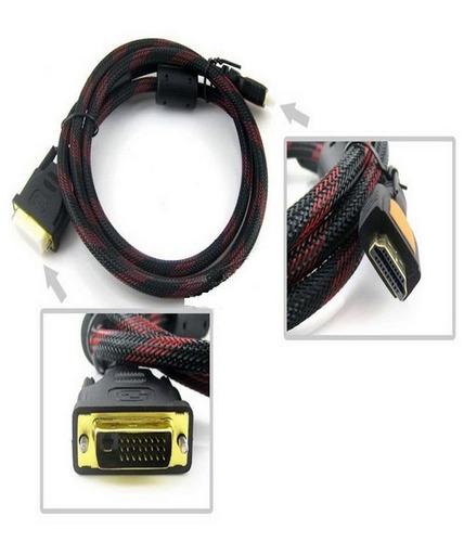 cable hdmi macho a dvi macho 24+1 1.5 mts  calidad