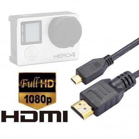 cable hdmi micro 1.5 metros para gopro  hero 7 6 5 4 3 3+