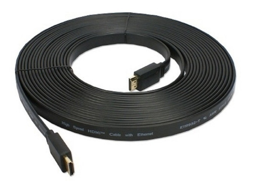 cable hdmi m/m plano 5 metros 3d 1080p 4k v1,4 skyway sk-5pl