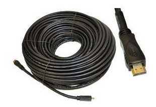 cable hdmi para alta definicion chapa de oro 50 metros