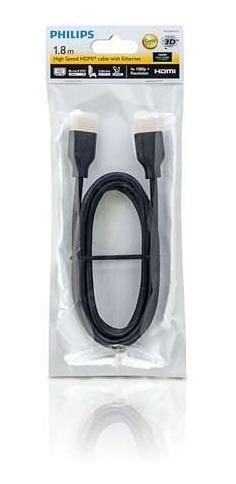 cable hdmi philips con ethernet alta velocidad 1.8 m cuotas