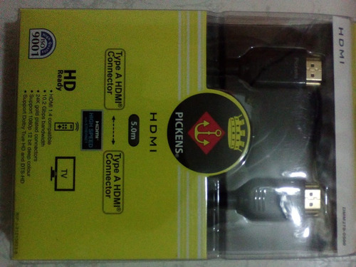 cable hdmi pickens hdmi 5mts dmm270-0500 601