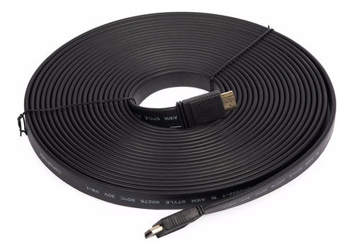 cable hdmi plano 10 metros v2.0 4k full hd 3d led smart tv