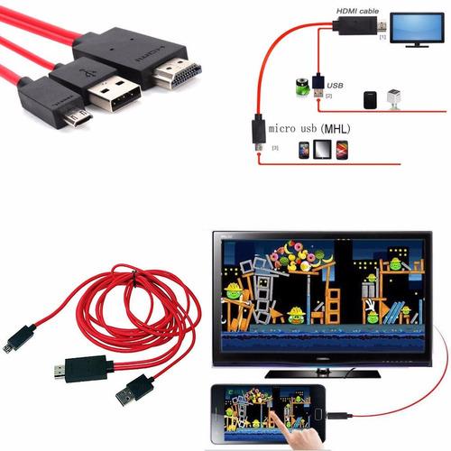 cable hdmi usb mhl para samsung galaxy note 8 gt n5100 n5110