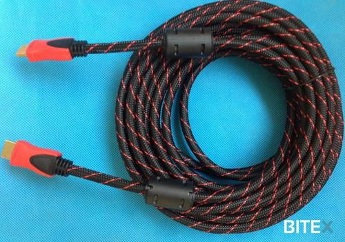 cable hdmi x 3m reforzado para pc,note,tv + cuotas s/interes