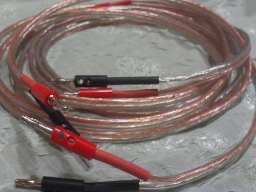 cable hi fi grueso libre oxigeno alta calidad banana economi