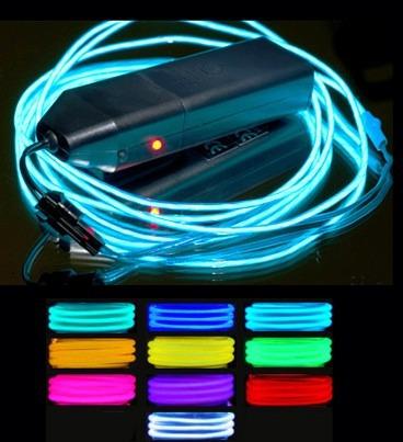 cable hilo neon luminoso tron el wire led luz 2 metros