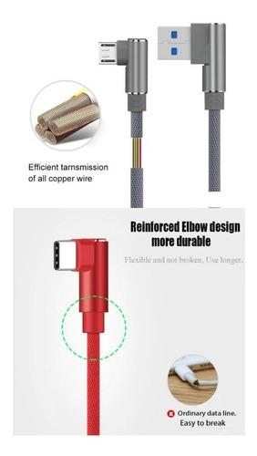 cable horizontal trenzado nylon carga rapida iphone nylon