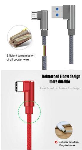 cable horizontal trenzado nylon carga rapida micro usb nylon