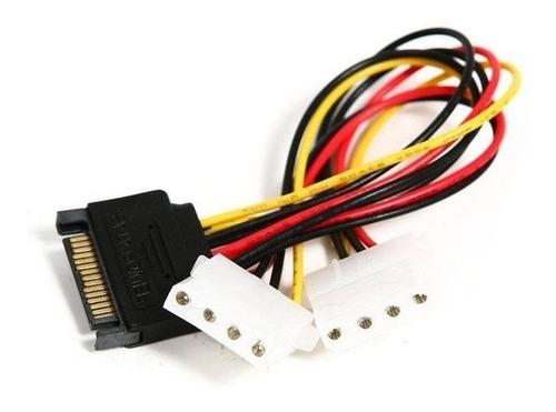 cable hub adapt poder sata 15 pin macho a 2x molex ide 4 pin