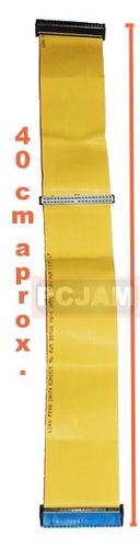 cable ide de 80 pines color amarillo.