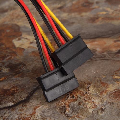 cable ide molex 4 pin hembra a sata x 2 hembra riser fuente