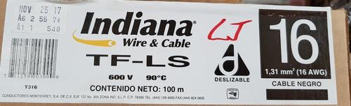 cable indiana thw calibre 16 (caja c/100 mts).
