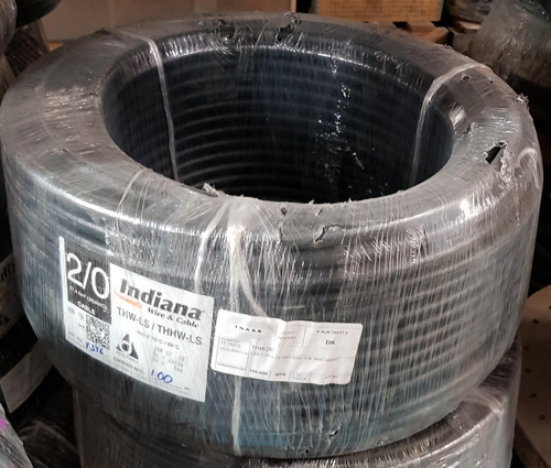 cable indiana thw calibre 2/0 (rollo c/100 mts).