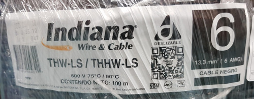 cable indiana thw calibre 6 (rollo c/100 mts).