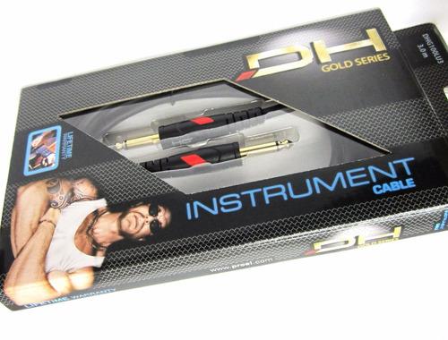 cable instrumento dh proel 3 mt profesional plugs en oro