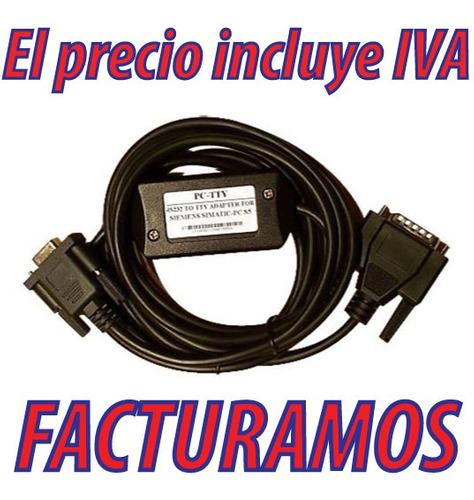 cable interface serial para siemens s5 tty plc 6es5 734-1bd2