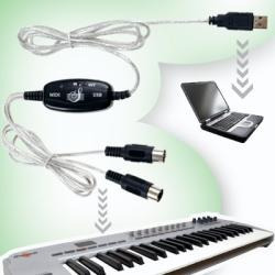 cable interfaz usb midi 16 canales in out para teclados