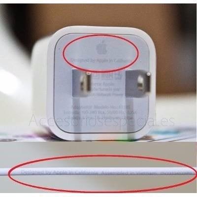 cable iphone 4 + cargador apple original 3g 4s ipod garantia