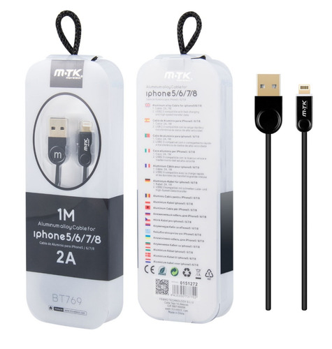 cable iphone lightning certificado 5018
