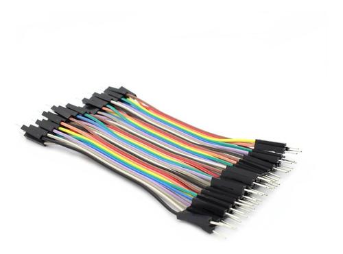 cable jumper dupont macho macho 10cm 40 cables arduino