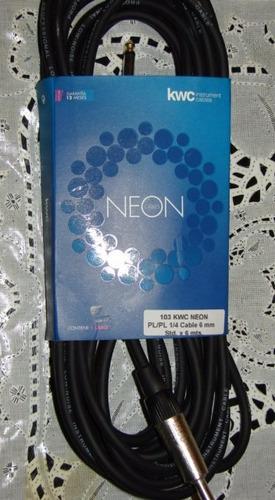 cable kw neon plug plug -1/4 de 6 mm. por 6 mt(mar del plata