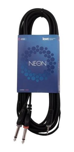 cable kwc neon 9004 miniplug str x 2 plug mono 3m - cuotas