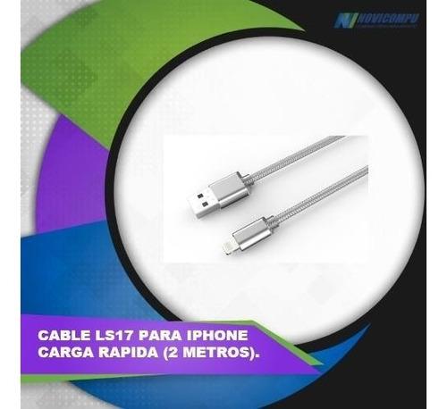 cable ldnio ls17 de 2 metros carga rápida  para iphone.