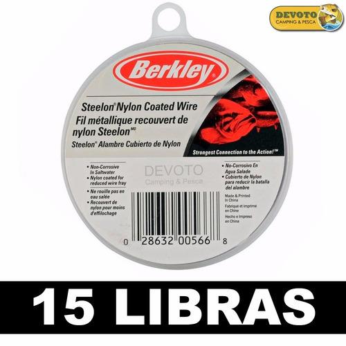 cable leader acero berkley 15 libras cable líder dorado taru