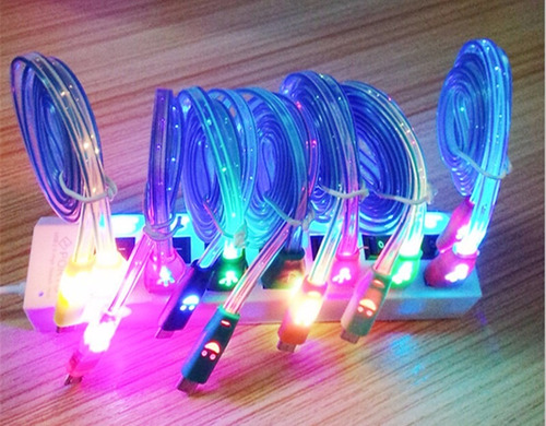 cable led v8 de datos cargador micro usb