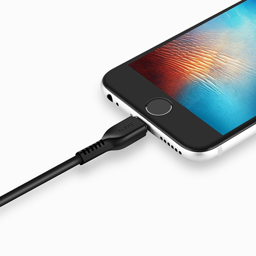 cable lightning 2 metros hoco negro x13 para iphone/ipad