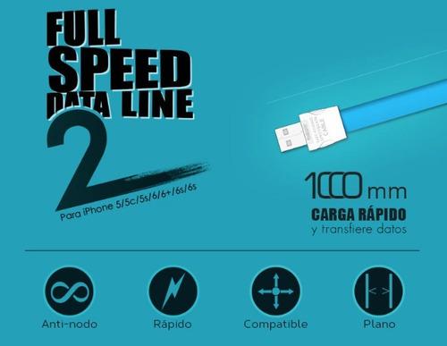 cable lightning lbn 1.2mts carga rapida iphone 5 6 7 8 y x