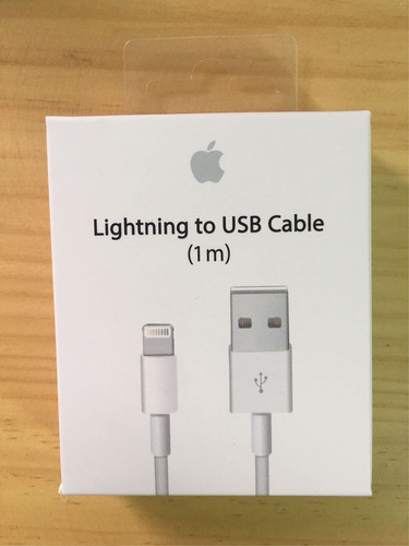 cable lightning original apple interfaz 2.0.