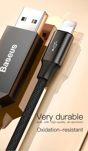 cable lightning usb iphone rapido baseus 6 7 8 x - 5 metros