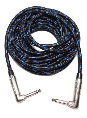 cable linea guitarra plug 90ºx 9 mts textil profesional hamc