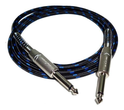 cable linea guitarra plug x 3 mts textil profesional hamc