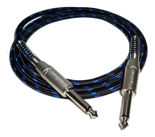 cable linea guitarra plug x 6 mts textil profesional hamc