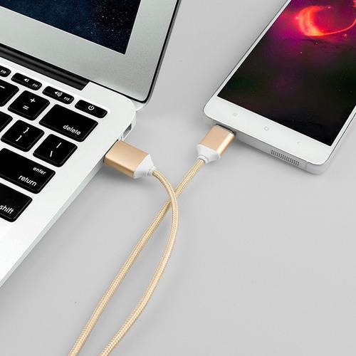 cable magnético cargador/datos android plateado ultrarapido