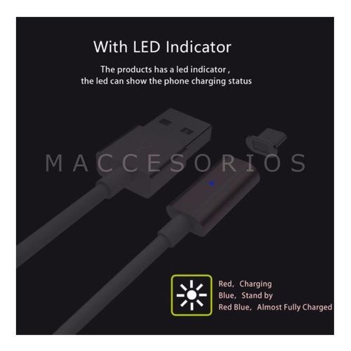 cable magnetico iman cargador micro usb pin de carga