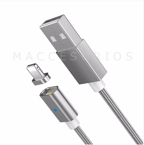 cable magnetico iman lightning iphone 5s 6s 7  8 x xs xr