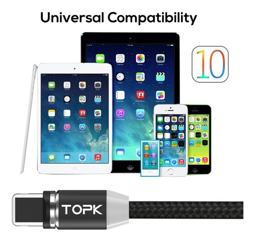 cable magnetico iphone 5 5s 6 6s 7 7s plus certificado 2018
