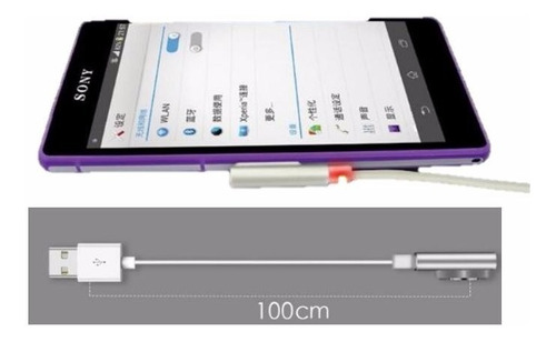 cable magnetico led sony xperia z1 z2 z3 compact
