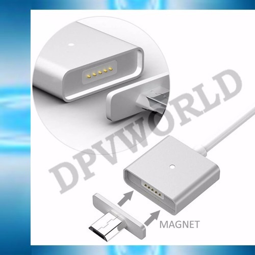 cable magnetico lightning o micro usb 2 en 1 iphone samsung