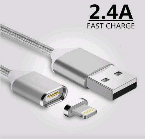 cable magnetico para iphone y android