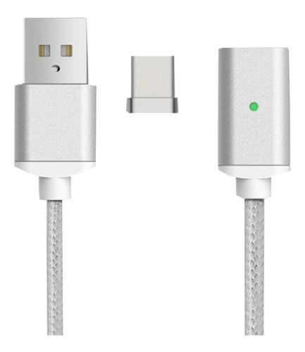 cable magnetico usb c datos 2.4a  garantia