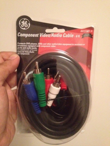cable marca general electric  1,8 metros rca,video/audio