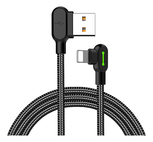 cable mcdodo original usb a lightning (iphone) 1,20 metro - ideal gamer 90° excelente calidad - codito