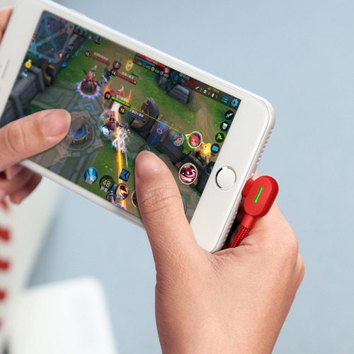 cable mcdodo original usb a lightning (iphone) 50 centímetros - ideal gamer 90° excelente calidad - codito
