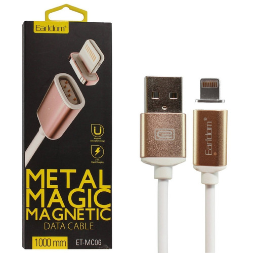 cable metal magnetico imantado iphone 6 6s 7 plus iphone 8 x